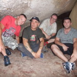 Kenny, Mark II, Jimmy and Glenn in the Vietcong meeting room deep in the caves